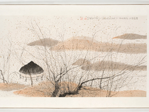 Zhu Daoping. Fallen Duck on Frozen Island, 2003. Ink on rice paper. Courtesy of Goedhuis Contemporary.